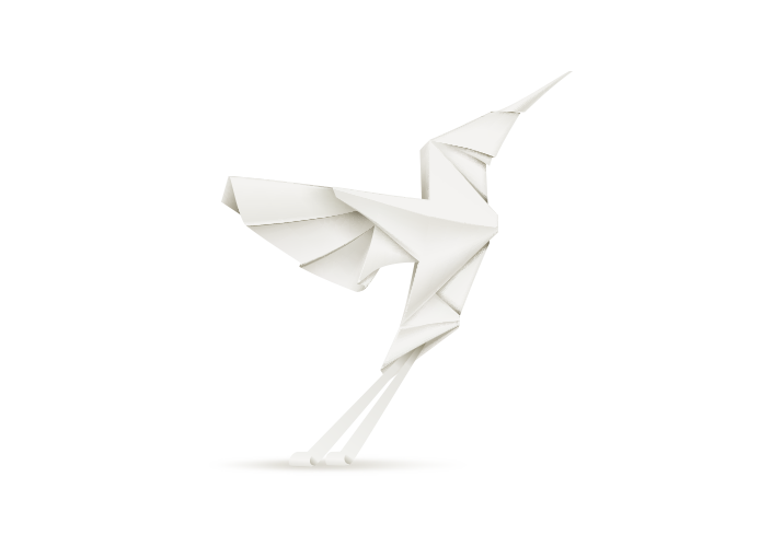 Origami bird without flower
