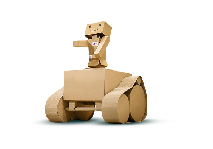 Origami man with tank